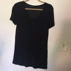 All saints v neck black T-shirt sz small